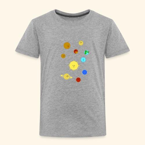 Solsystem svart - Premium-T-shirt barn