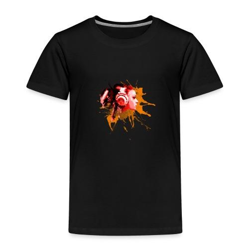 GIRL MIT KOPFHÖRER - Kinder Premium T-Shirt