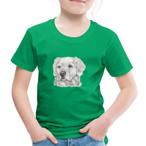 golden retriever - Børne premium T-shirt