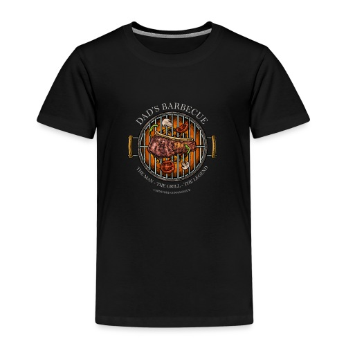 Dad's Barbecue - The man, the grill, the legend - - Kinder Premium T-Shirt