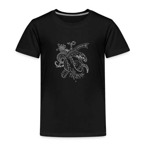 Fantasia valkoinen scribblesirii - Lasten premium t-paita