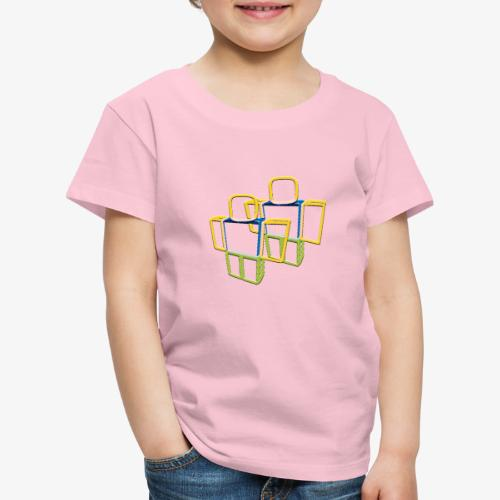 Sqaure Noob Person - Kids' Premium T-Shirt