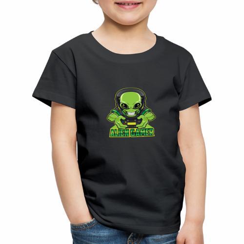 AlienGamer Testo - Maglietta Premium per bambini