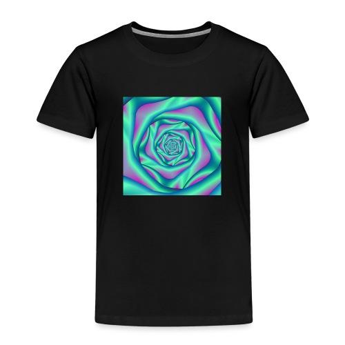 Silk Spiral Rose in Blue and Pink - Kids' Premium T-Shirt