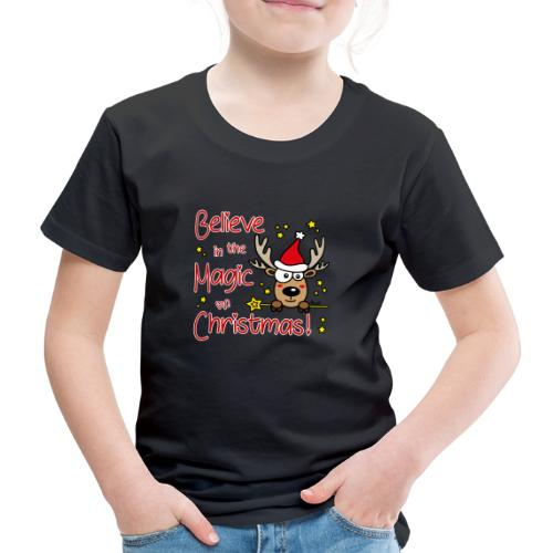 Renne, Magic of Christmas, Happy Christmas, Noël - T-shirt Premium Enfant