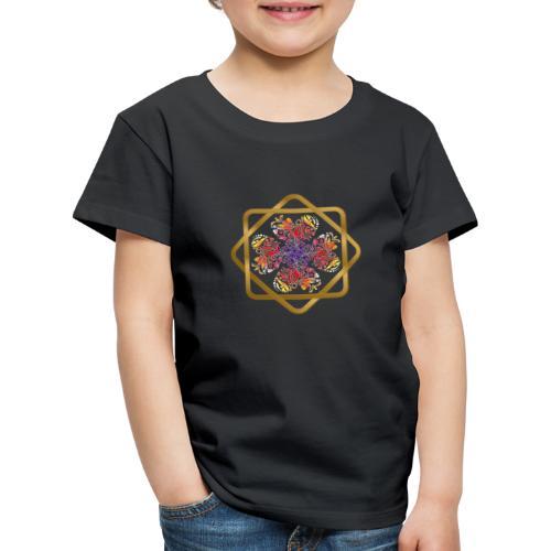 Kleeblatt aus Herzen Octagram - Glück Liebe Sicher - Kinder Premium T-Shirt