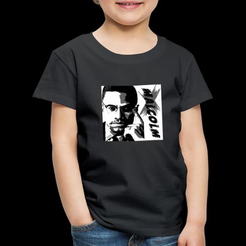 Malcom X Black and White - Kinder Premium T-Shirt