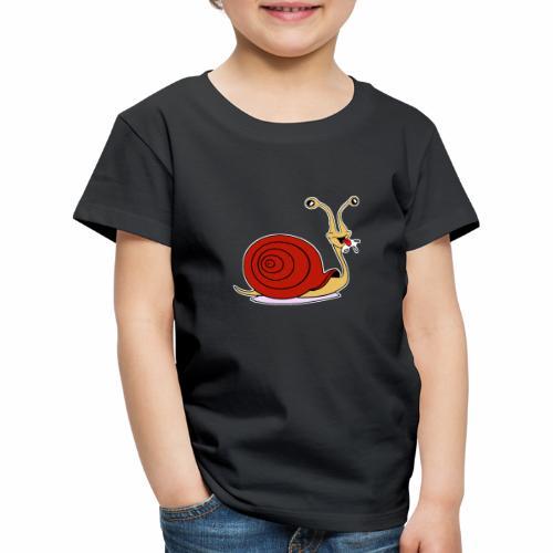 Escargot rigolo red version - T-shirt Premium Enfant