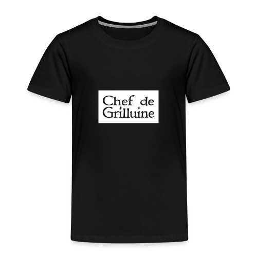 Chef de Grilluine - der Chef am Grill - Kinder Premium T-Shirt