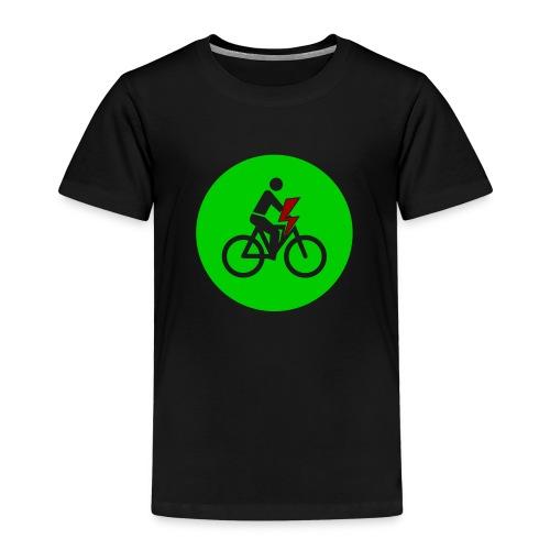 e bike grün Schild Logo Emblem - Farben änderbar - Kinder Premium T-Shirt