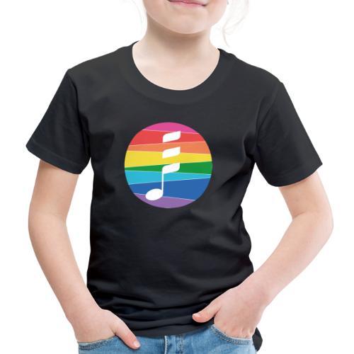 Rainbow Note - Kinder Premium T-Shirt
