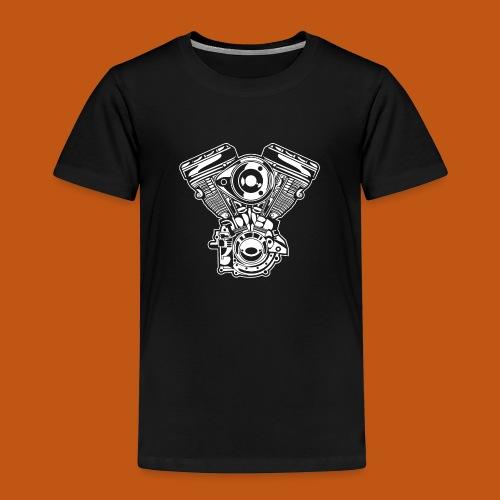 Motorrad Motor / Engine 01_weiß - Kinder Premium T-Shirt