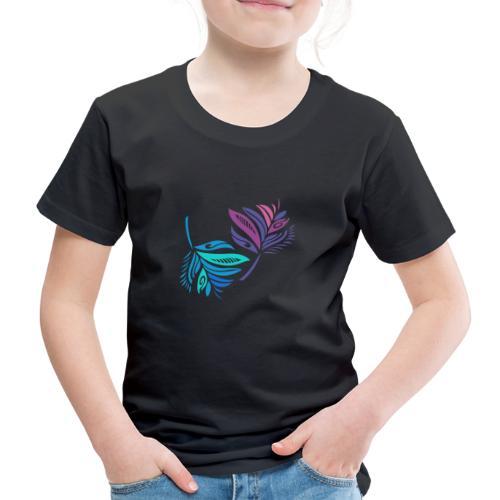 foglie geometriche - Maglietta Premium per bambini