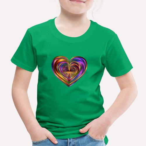 Colorful Love Heart Print T-shirts And Apparel - Kids' Premium T-Shirt