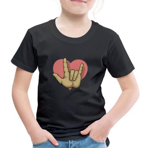ILY mitHerz - Kinder Premium T-Shirt
