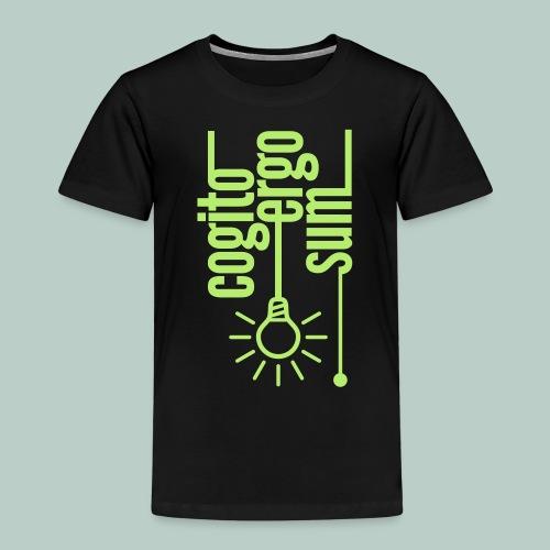 cogito ergo sum glühbirne - Kinder Premium T-Shirt