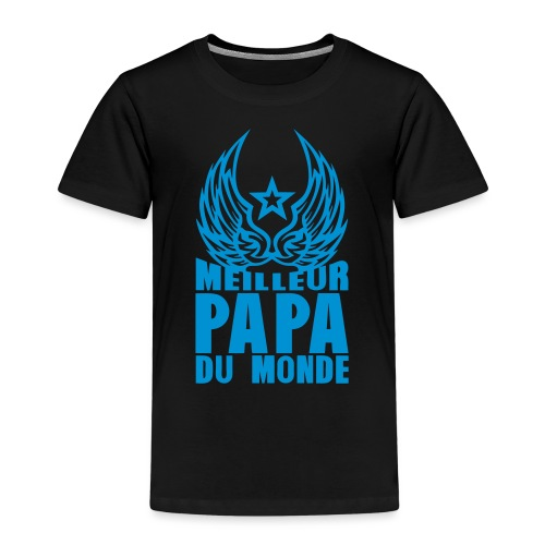 meilleur papa du monde aile etoile logo - T-shirt Premium Enfant