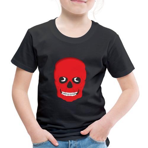 Calavera roja - Camiseta premium niño