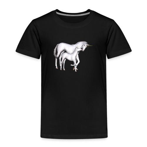 Einhorn mit Fohlem - Kinder Premium T-Shirt