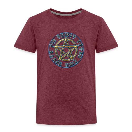 Runen Pentagramm Elemente Schutz Amulett Magie - Kinder Premium T-Shirt