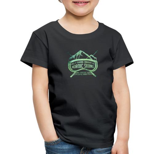 Nordic Skiing And Pizza People - Kids' Premium T-Shirt