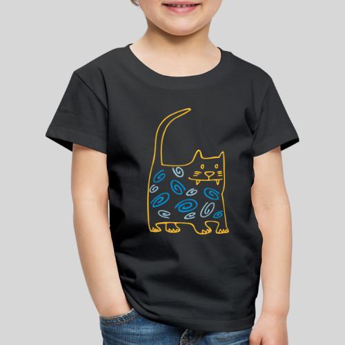 schöne dicke katze - Kinder Premium T-Shirt