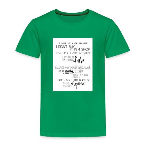 I LOVE MY HAIR - Kids' Premium T-Shirt