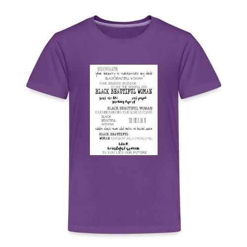 Beautiful Black Woman - Kids' Premium T-Shirt
