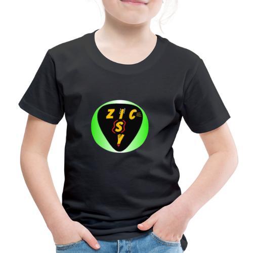 Zic izy rond dégradé vert - T-shirt Premium Enfant
