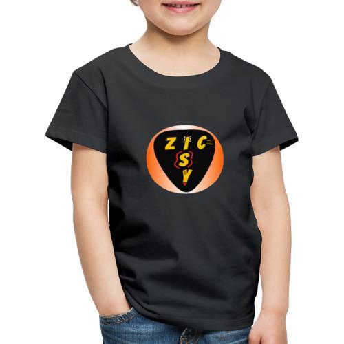 Zic izy rond dégradé orange - T-shirt Premium Enfant