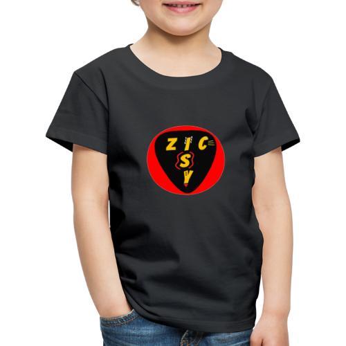 Zic izy rond rouge - T-shirt Premium Enfant