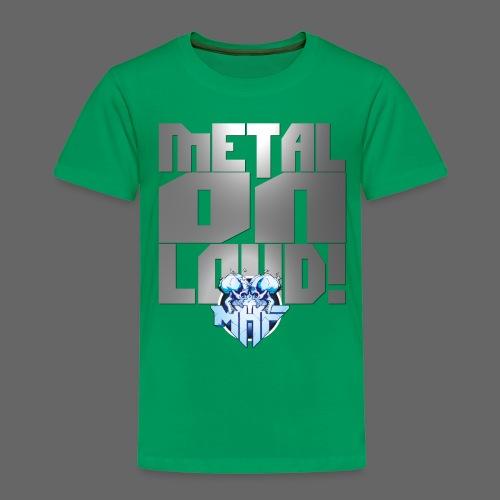 metalonloud large 4k png - Kids' Premium T-Shirt