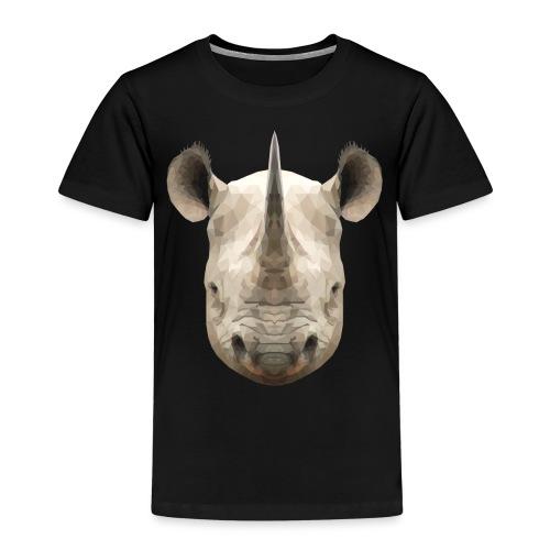 LowPoly Rhino - Premium-T-shirt barn