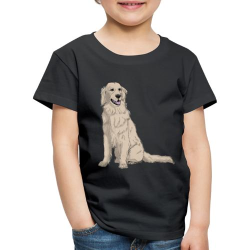Golden retriever - sit - Børne premium T-shirt