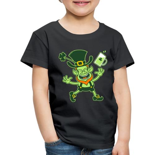 Euphoric Leprechaun Celebrating St Patrick's Day - Kids' Premium T-Shirt