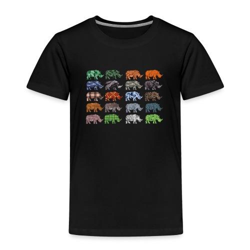 Multi Rhino - Kids' Premium T-Shirt