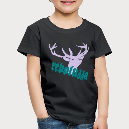 Hirsch Revoluzza Trachiges Motiv - Kinder Premium T-Shirt
