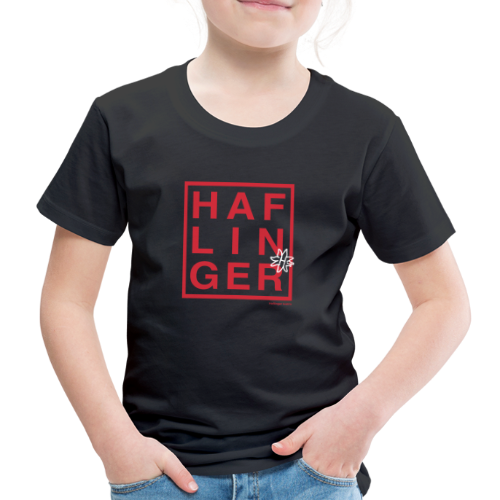 Haflinger Schriftzug / Pferd - Kinder Premium T-Shirt