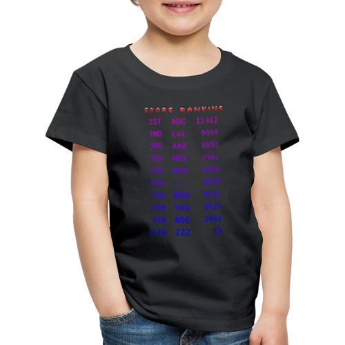 Score Ranking - Maglietta Premium per bambini