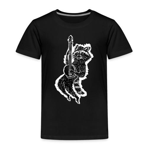 Schwebender Waschbär Spielt Banjo Tier Druck - Kinder Premium T-Shirt