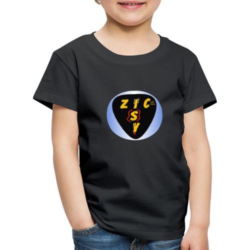 Zic izy rond dégradé bleu - T-shirt Premium Enfant
