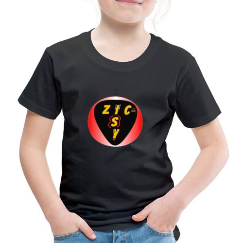 Zic izy rond dégradé rouge - T-shirt Premium Enfant