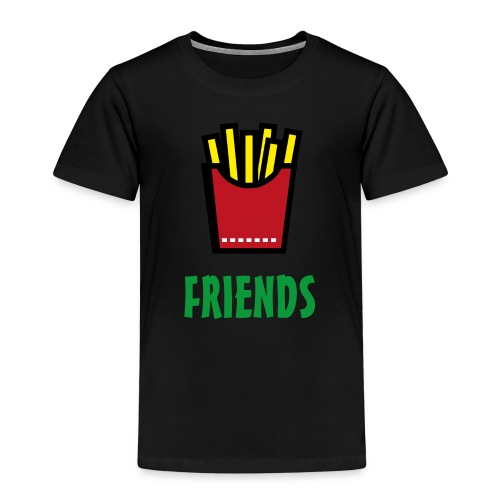 Best Friends Burger & Fries Fritten Pommes Frittes - Kinder Premium T-Shirt