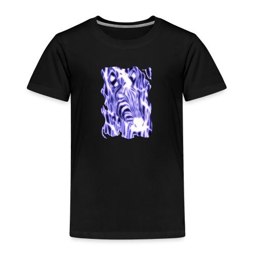 Sähköinen seepra - Lasten premium t-paita