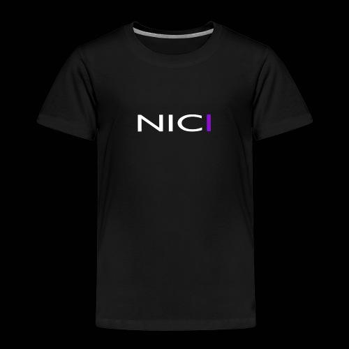 NICI logo WHITE - Lasten premium t-paita
