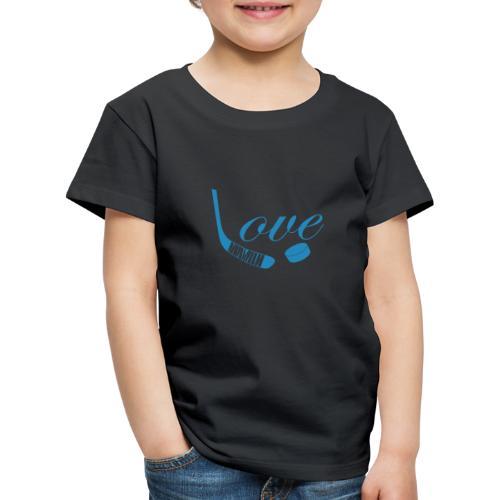hockey love babyblue - Børne premium T-shirt