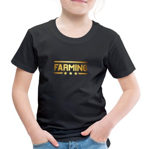 00364 Farming dorado - Camiseta premium niño