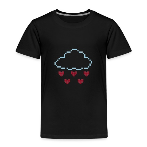 Wolke Pixelherz - Kinder Premium T-Shirt