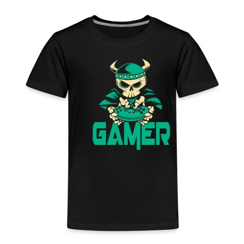 gamer skelett wikinger - Kinder Premium T-Shirt