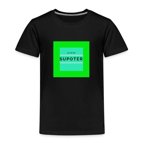 jag är en supoter - Premium-T-shirt barn
